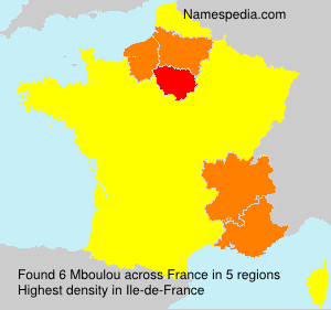Surname Mboulou in France