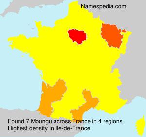 Familiennamen Mbungu - France