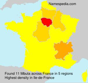 Surname Mbuta in France