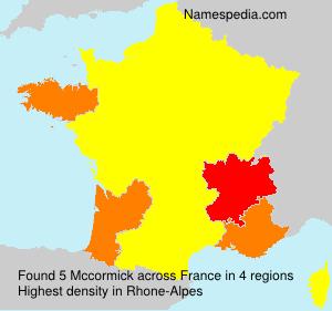 Surname Mccormick in France