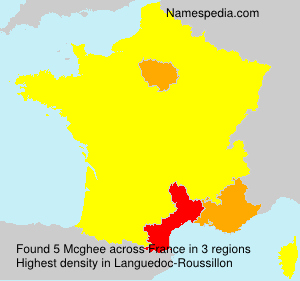 Surname Mcghee in France