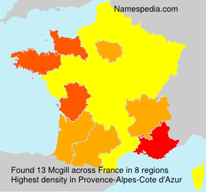 Surname Mcgill in France