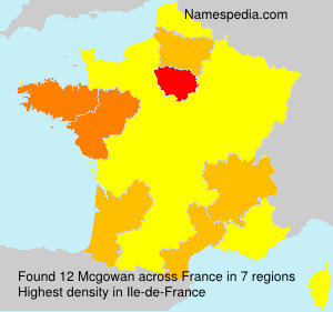 Surname Mcgowan in France