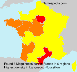 Surname Mcguinness in France