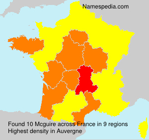 Surname Mcguire in France
