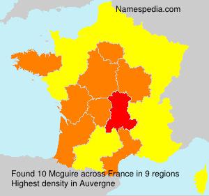 Familiennamen Mcguire - France