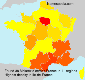 Surname Mckenzie in France