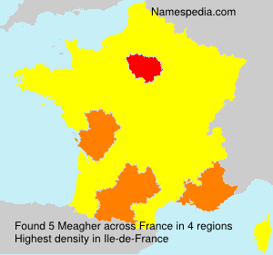 Surname Meagher in France
