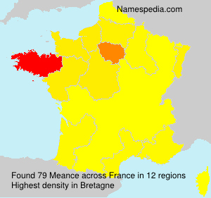 Surname Meance in France