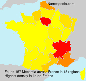 Surname Mebarkia in France
