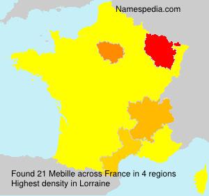 Surname Mebille in France