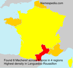 Surname Mecheref in France