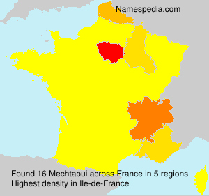Surname Mechtaoui in France