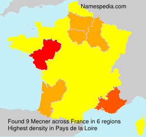 Surname Mecner in France