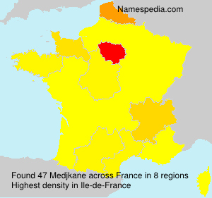 Surname Medjkane in France