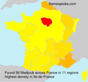 Surname Medjoub in France