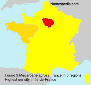 Familiennamen Megarbane - France