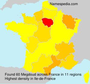 Surname Megdoud in France