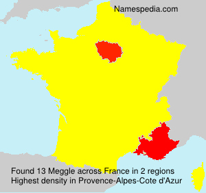 Surname Meggle in France