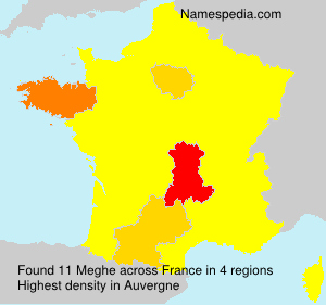 Surname Meghe in France