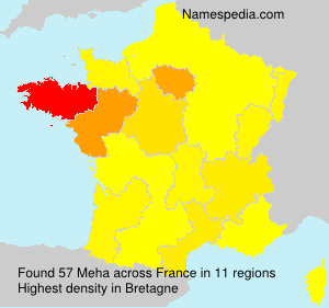 Surname Meha in France