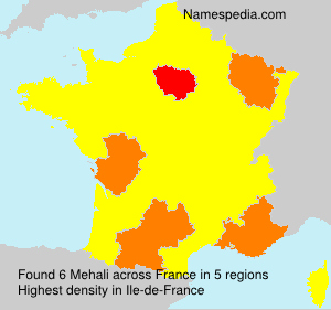 Surname Mehali in France