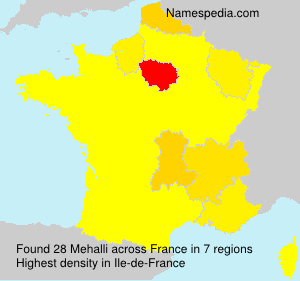 Surname Mehalli in France
