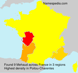 Surname Mehaud in France