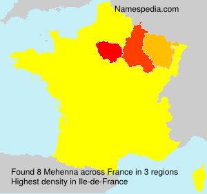 Surname Mehenna in France