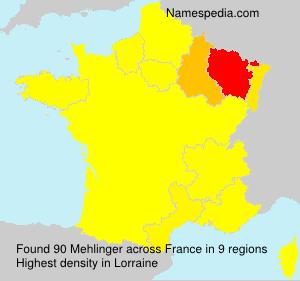 Surname Mehlinger in France
