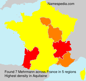 Surname Mehrmann in France