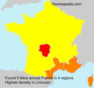 Familiennamen Meia - France