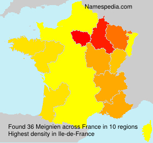 Surname Meignien in France