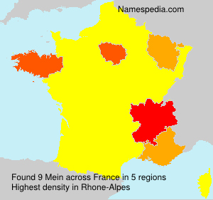 Surname Mein in France