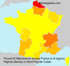 Surname Meiresonne in France