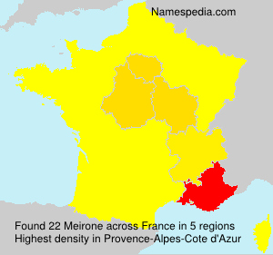 Surname Meirone in France