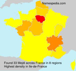 Familiennamen Mejdi - France