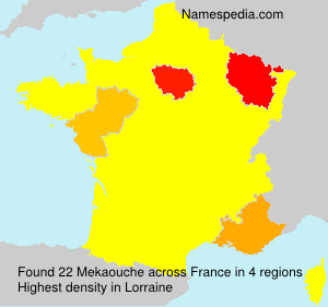 Surname Mekaouche in France