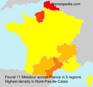 Familiennamen Mekdour - France