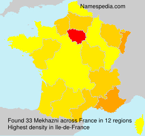 Surname Mekhazni in France