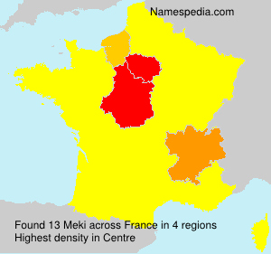 Surname Meki in France