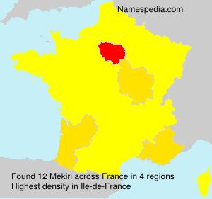 Familiennamen Mekiri - France