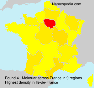 Surname Mekouar in France