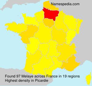Surname Melaye in France