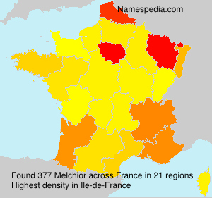 Surname Melchior in France