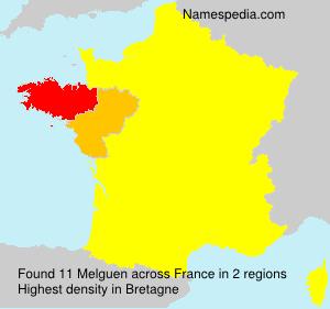 Familiennamen Melguen - France