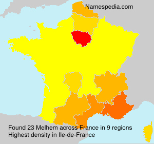 Surname Melhem in France