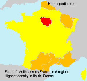 Surname Melihi in France