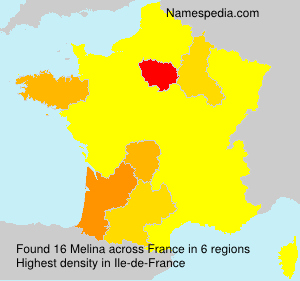 Surname Melina in France