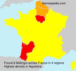 Surname Melingui in France